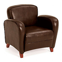 Faux Leather Reception Arm Chair, 8802811