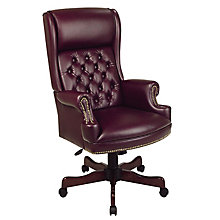 Vinyl High Back Traditional Chair, OFF-TEX228