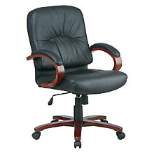 Work Smart Leather Desk Chair, OFF-WD5671-3
