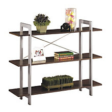 Espresso Finish Three Shelf Bookcase, OFF-XT27