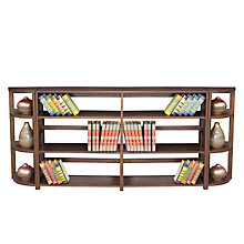 Wood Three-Shelf Folding Bookcase Wall Unit, OFG-BC0032
