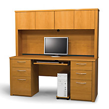 Embassy Computer Credenza with Hutch, OFG-CH0018