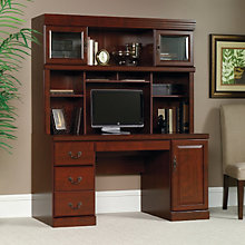 Heritage Hill Computer Credenza with Hutch, OFG-CH0028