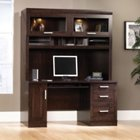 Office Port Dark Alder Computer Credenza with Hutch, OFG-CH0030