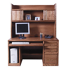 Contemporary Computer Desk with Hutch, OFG-DH0061