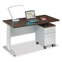 "Sector 60""W Single Pedestal Desk, OFG-DS0038"