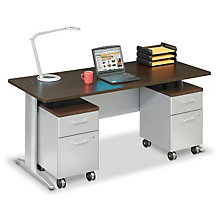 "Sector 72""W Double Pedestal Desk, OFG-DS0039"