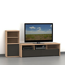 "Infini-T Two-Tone 60"" TV Stand Set, OFG-EF0100"