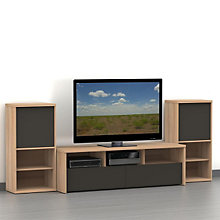 "Infini-T Two-Tone 60"" TV Stand Set, OFG-EF0101"