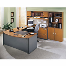 Right Bridge Bow Front U-Desk with Storage, OFG-EX1015