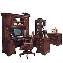 Chocolate Patina Finish Executive Office Suite, OFG-EX1088