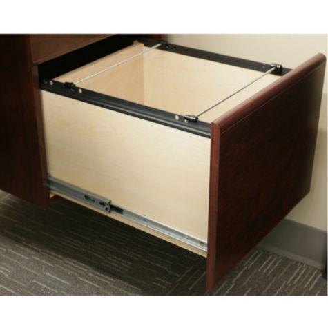 Cornerstone Reversible L Desk With Laptop Drawer