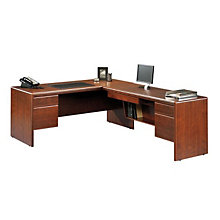 Cornerstone Large Reversible L-Desk with Laptop Drawer, OFG-LD0002