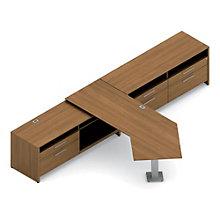 Princeton L-Desk with Credenza Set, OFG-LD0107