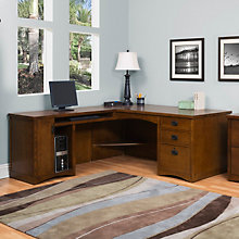 Mission Oak L Desk Left, OFG-LD1000