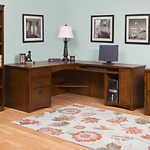 Mission Oak L-Desk with Right Return, OFG-LD1001