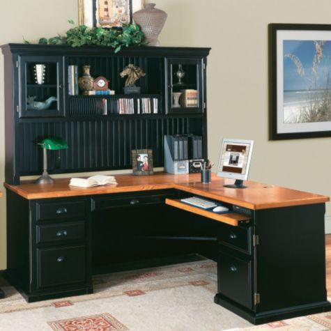 Southampton Onyx L Desk W Right Return Amp Hutch