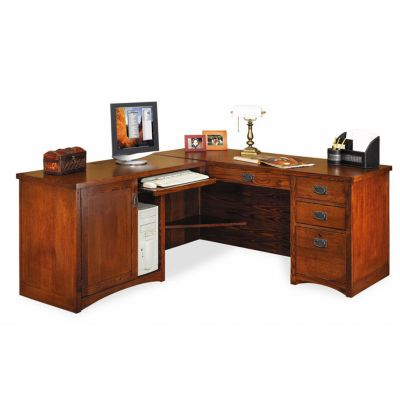 Mission desk amish oak craftsman style computer desks for Craftsman style office