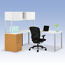 Voi L-Desk with Hutch, OFG-LD1226
