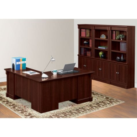 L Shaped Desk W Bookcase Palladia By Sauder