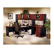Series A Corner Workstation Set with Three Drawer Pedestal, BUS-10140