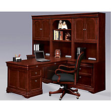 Chocolate Patina Finish Partners Desk Wall Set, OFG-PW0001