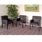 Black Vinyl Reception Arm Chair Grouping, OFG-RS0016