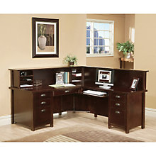 Tribeca Loft Cherry Receptionist L-Desk with Right Return, OFG-RS0053