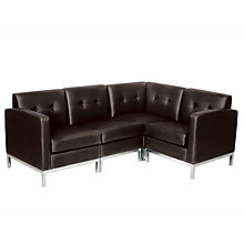 Wall Street L-Shaped Sofa in Faux Leather, OFG-RS0055