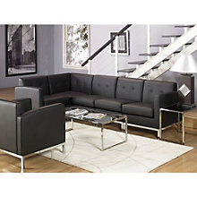 Wall Street L-Shaped Sofa in Faux Leather, OFG-RS0070