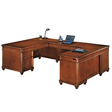 Antigua Executive U-Desk with Right Bridge, OFG-UD1072