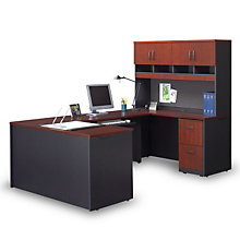Via Compact U-Desk with Hutch, OFG-UD1088
