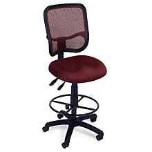 Mesh Back Drafting Stool with Footring, OFM-130-DK