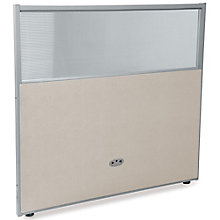 "RiZe Vinyl Partition with Clear Top - 48""W x 47""H , 8805300"