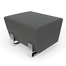 "Axis Chrome Leg Bench in Vinyl - 26""W, 8806838"