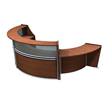 "Marque Curved Three Piece ADA Reception Set with Plexi - 139""W x 70""D, 8801397"