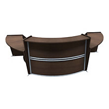 "Marque Curved Three Piece ADA Reception Station - 134.""W x 33.5""D, 8801399"