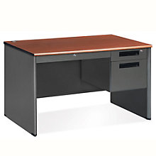 "Compact Panel Desk with Pedestal - 47""W x 29.5""D, 8802089"