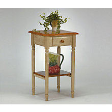 Buttermilk and Antique Oak Phone Table, OFS-CC04
