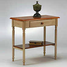 Buttermilk and Antique Oak Foyer Table, OFS-CC07