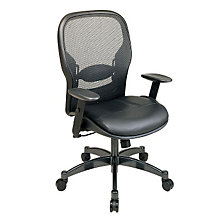 Leather Seat and Mesh Back Ergonomic Task Chair, OFS-2400
