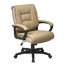 Work Smart Tufted Leather Desk Chair, OFS-EX5161
