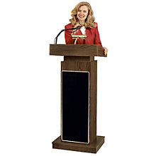 "Lamp and Microphone Equipped Lectern with Sound - 45""H, 8802560"