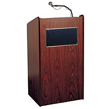 "Two Shelf Floor Lectern with Sound - 46""H, 8802804"