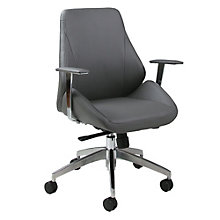 Isobella Modern Task Chair in Faux Leather, PAE-10782