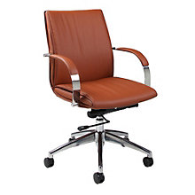 Josephina Mid-Back Computer Chair in Faux Leather, PAE-10784
