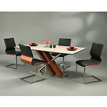 Charlize Wood Veneer Modern Conference Table and Chair Set, PAE-10842