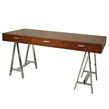 "FountainBleau Modern Three Drawer Desk - 62""W, 8802169"