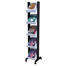 Narrow Five Shelf Literature Rack, PAF-259N02