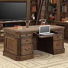 "Aria Double Pedestal Desk - 66""W, 8803789"